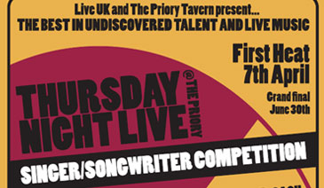 Thursday Night Live at the Priory