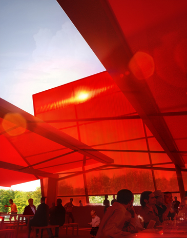 the Serpentine Gallery Pavilion is designed by world-renowned French architect Jean Nouvel.