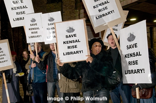 Save the Kensal Green Library protest