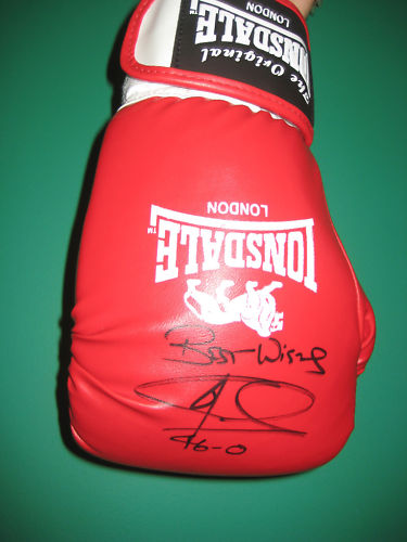 Lots include Joe Calzaghe Signed Cased Boxing Glove