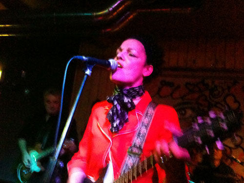 Delphi Newman and her band play the Cobden Club